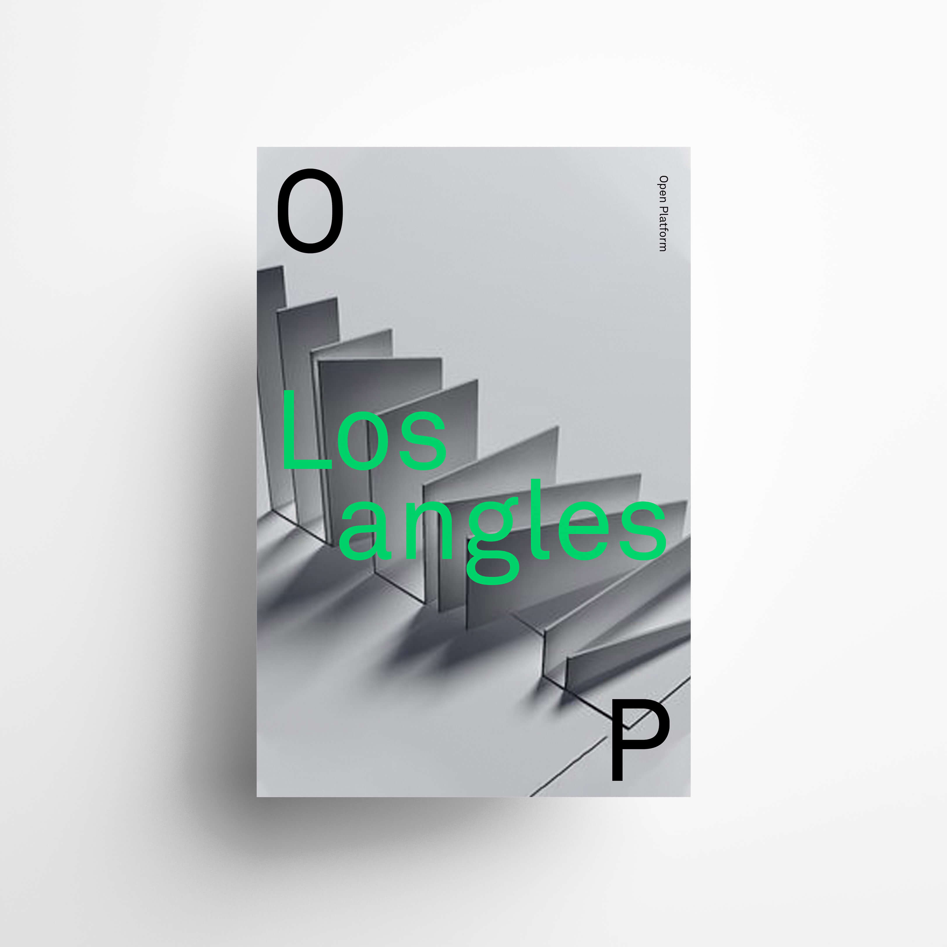 OP architecture visual identity poster design